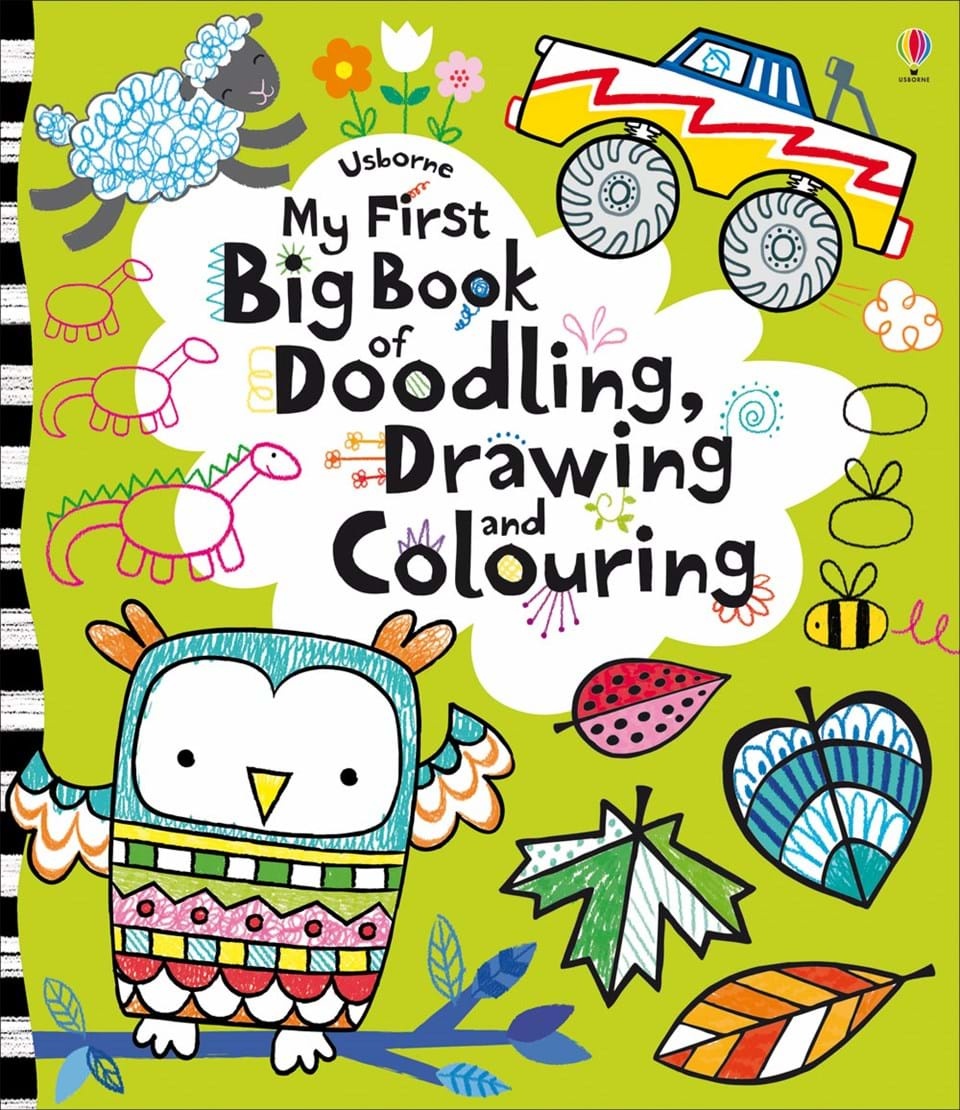 my first big book of doodling drawing and colouring - Drawing And Colouring