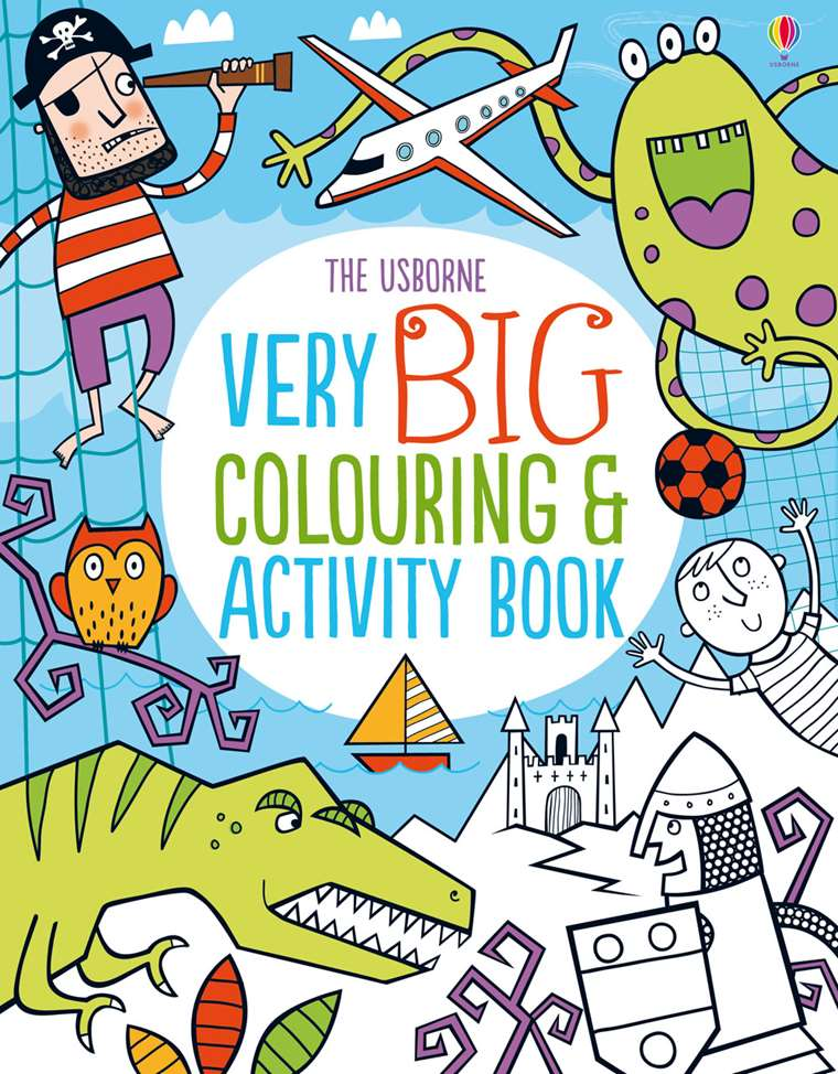 "Very big colouring and activity book"" at Usborne Children\'s Books"