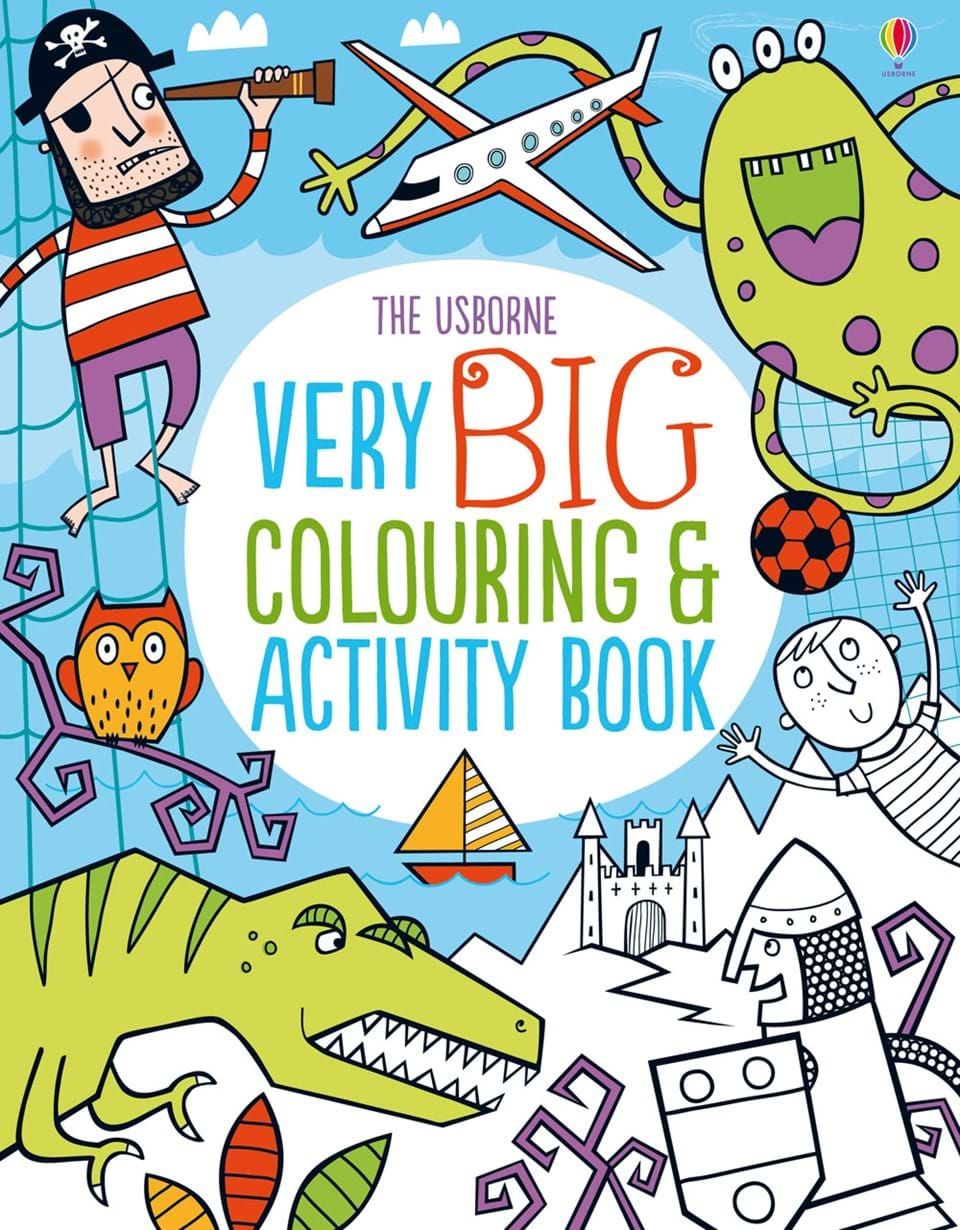very big colouring and activity book - Usborne Coloring Books