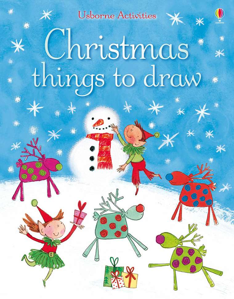 Christmas Pictures To Draw.Christmas Things To Draw At Usborne Children S Books