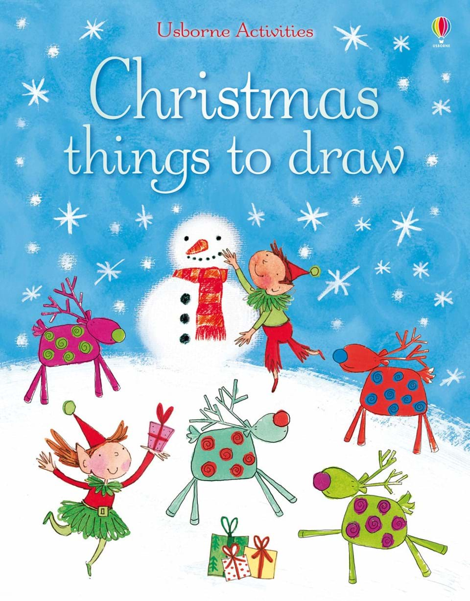 "Christmas things to draw"" at Usborne Children\'s Books"