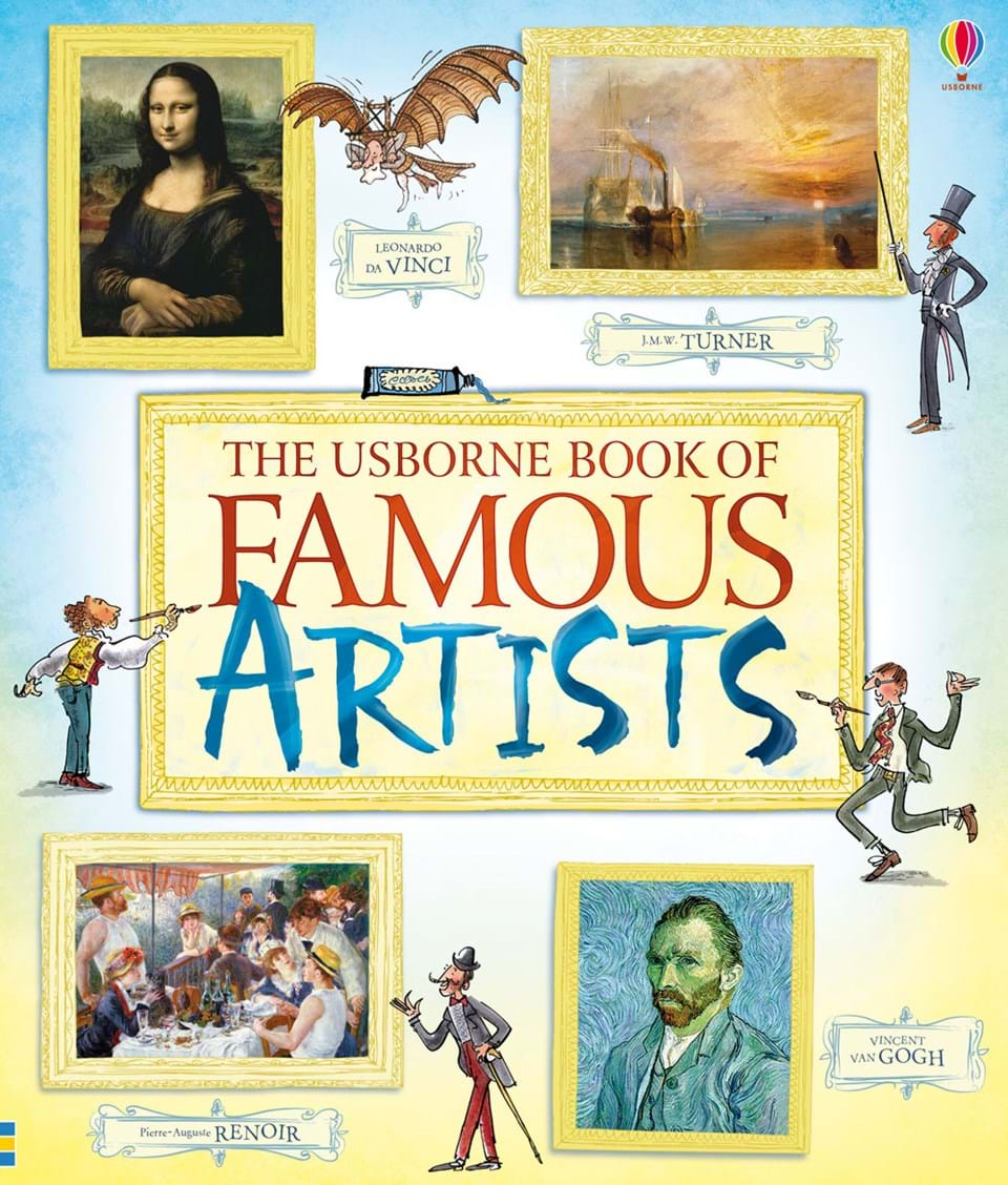 "Children S Book Cover Art For Sale ~ ""the usborne book of famous artists at children s"