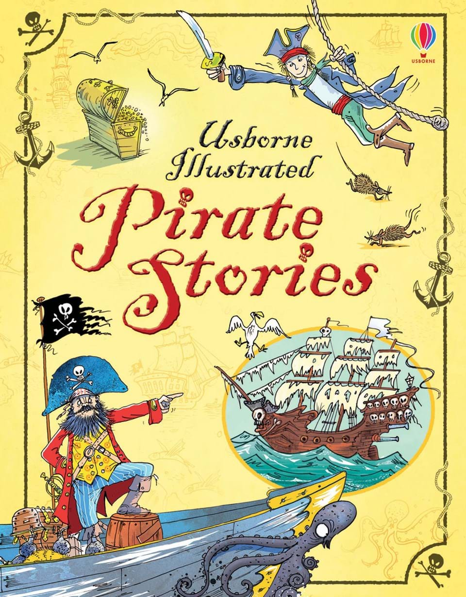 """Illustrated Book Cover Keyboard : """"illustrated pirate stories at usborne books home"""