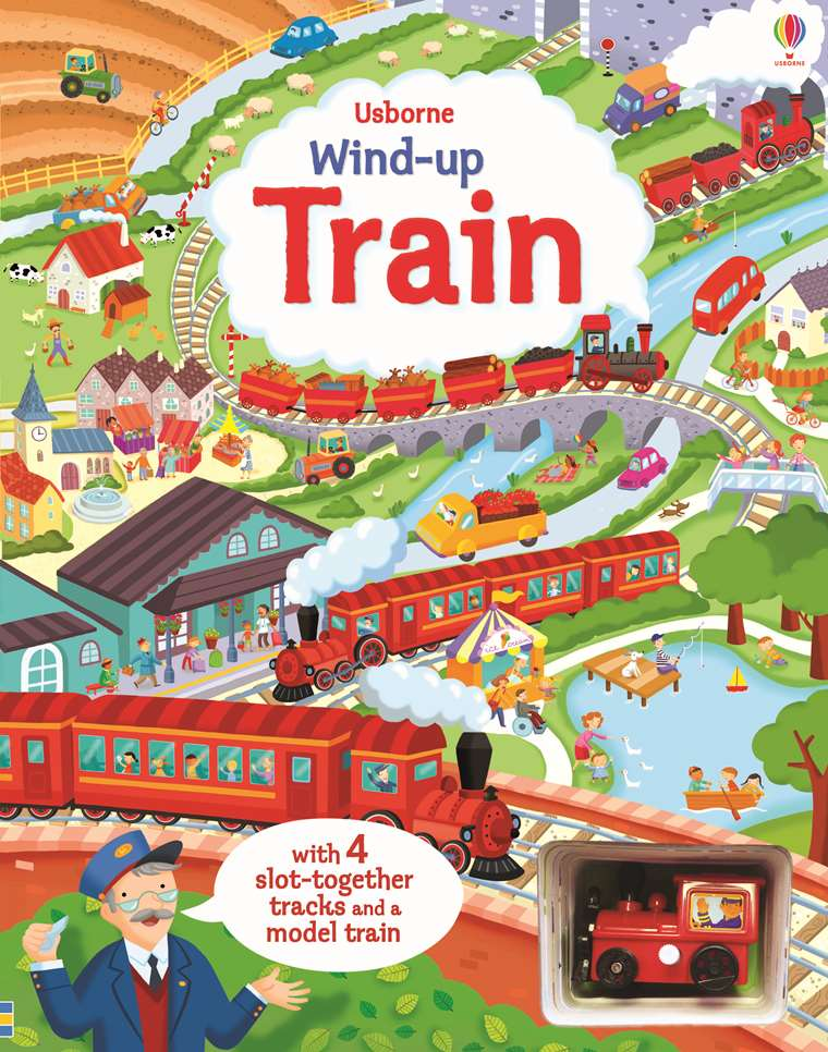 "Wind-up train book with slot-together tracks"" at Usborne Children's"