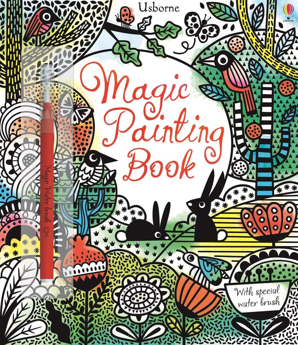"Book Cover Watercolor Yarn ~ ""magic painting book at usborne children s books"