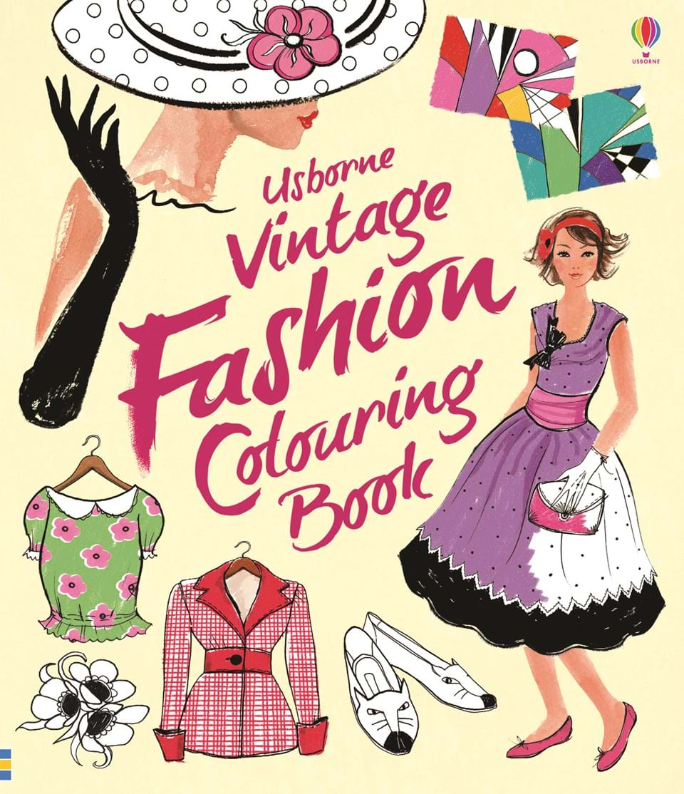 """Vintage fashion colouring book"""" at Usborne Books at Home"""