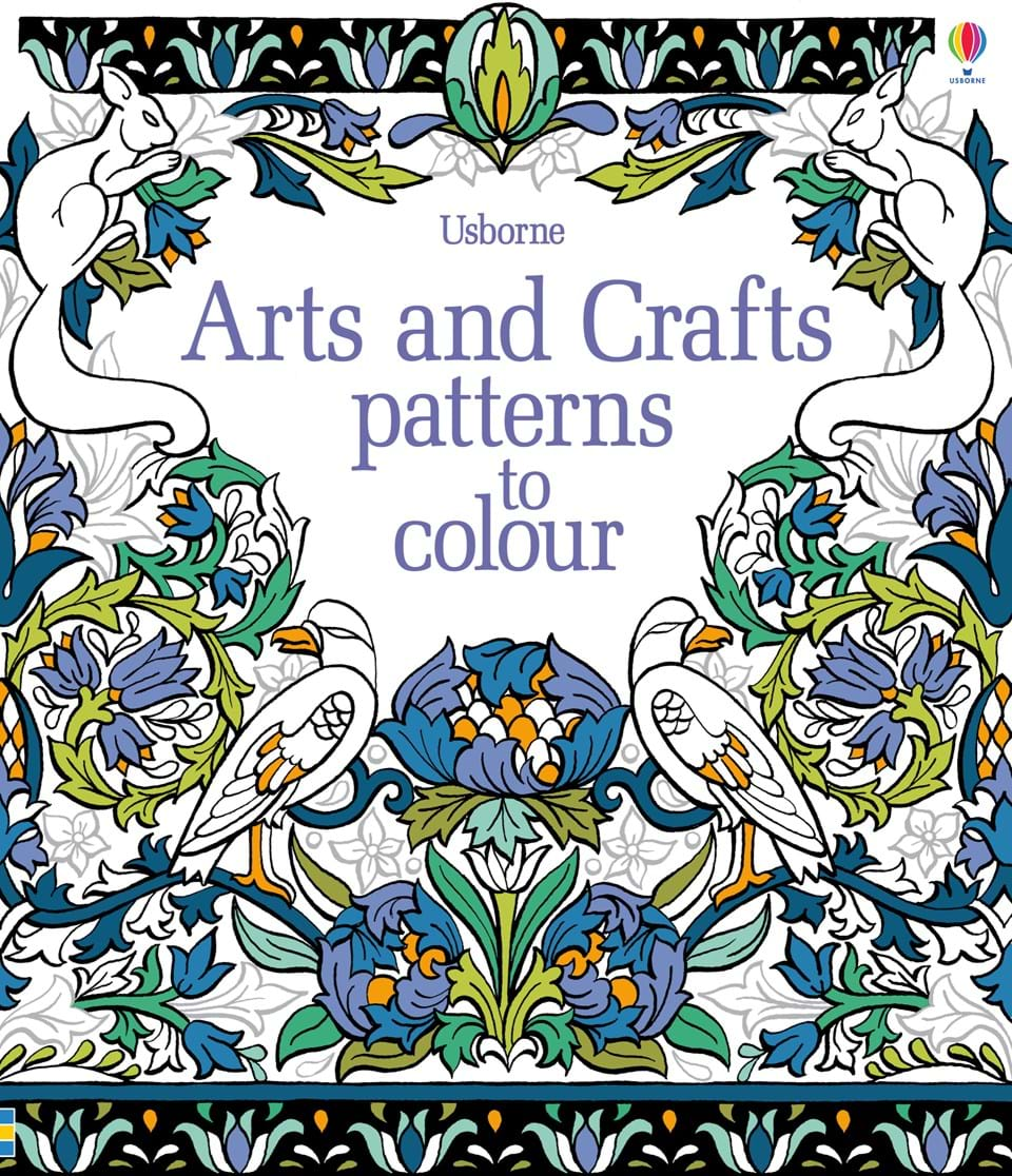 arts and crafts patterns to colour - Usborne Coloring Books