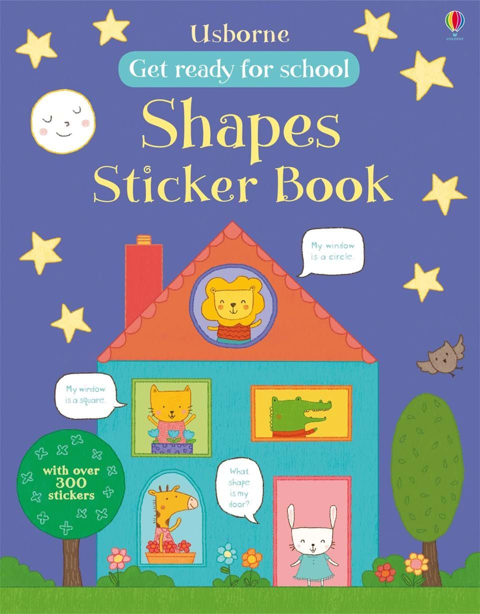 """School Book Cover Stickers : """"get ready for school shapes sticker book at usborne"""