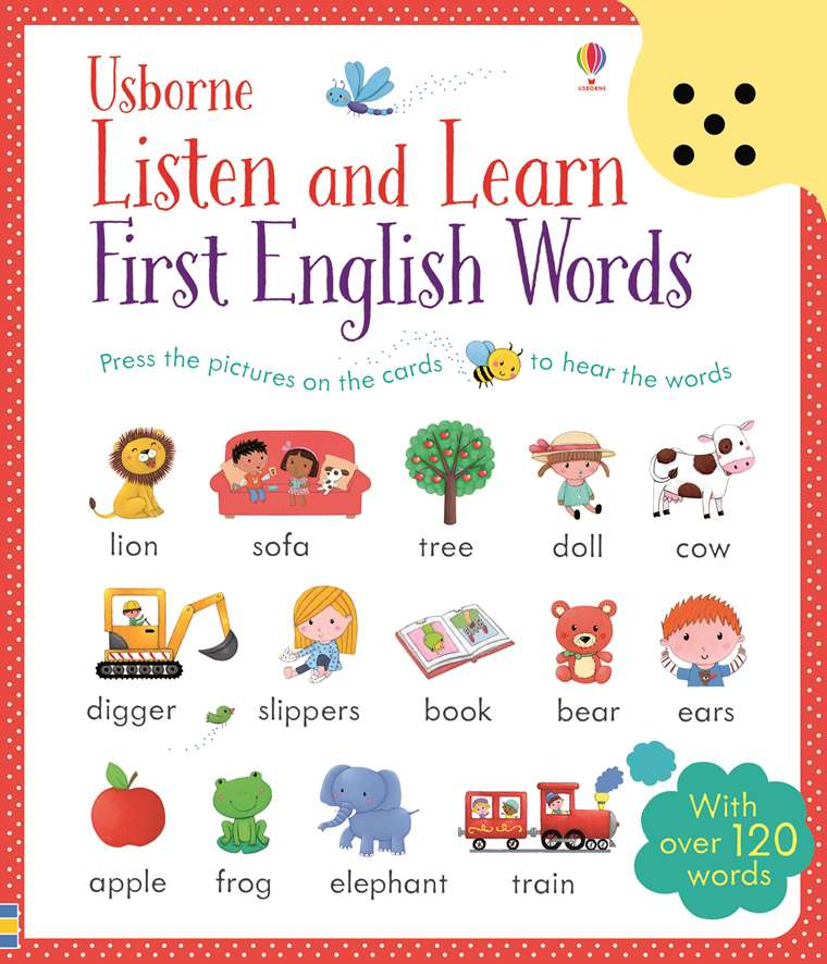 """Listen and learn first English words"""" at Usborne Children's"""