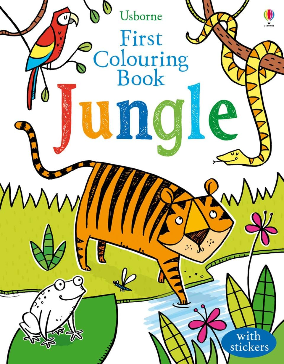 Childrens online colouring book - Jungle