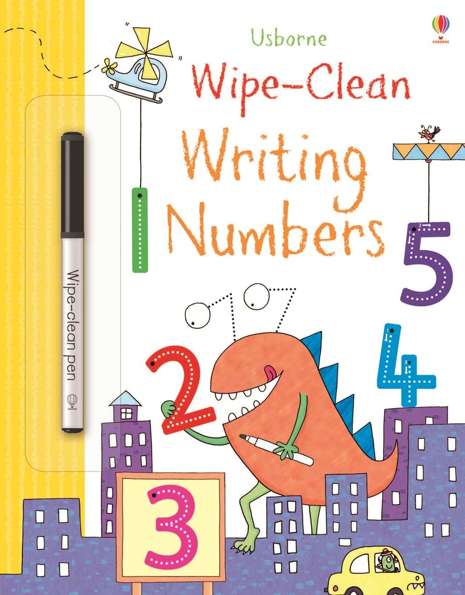 Letters And Numbers Book Wipe Clean