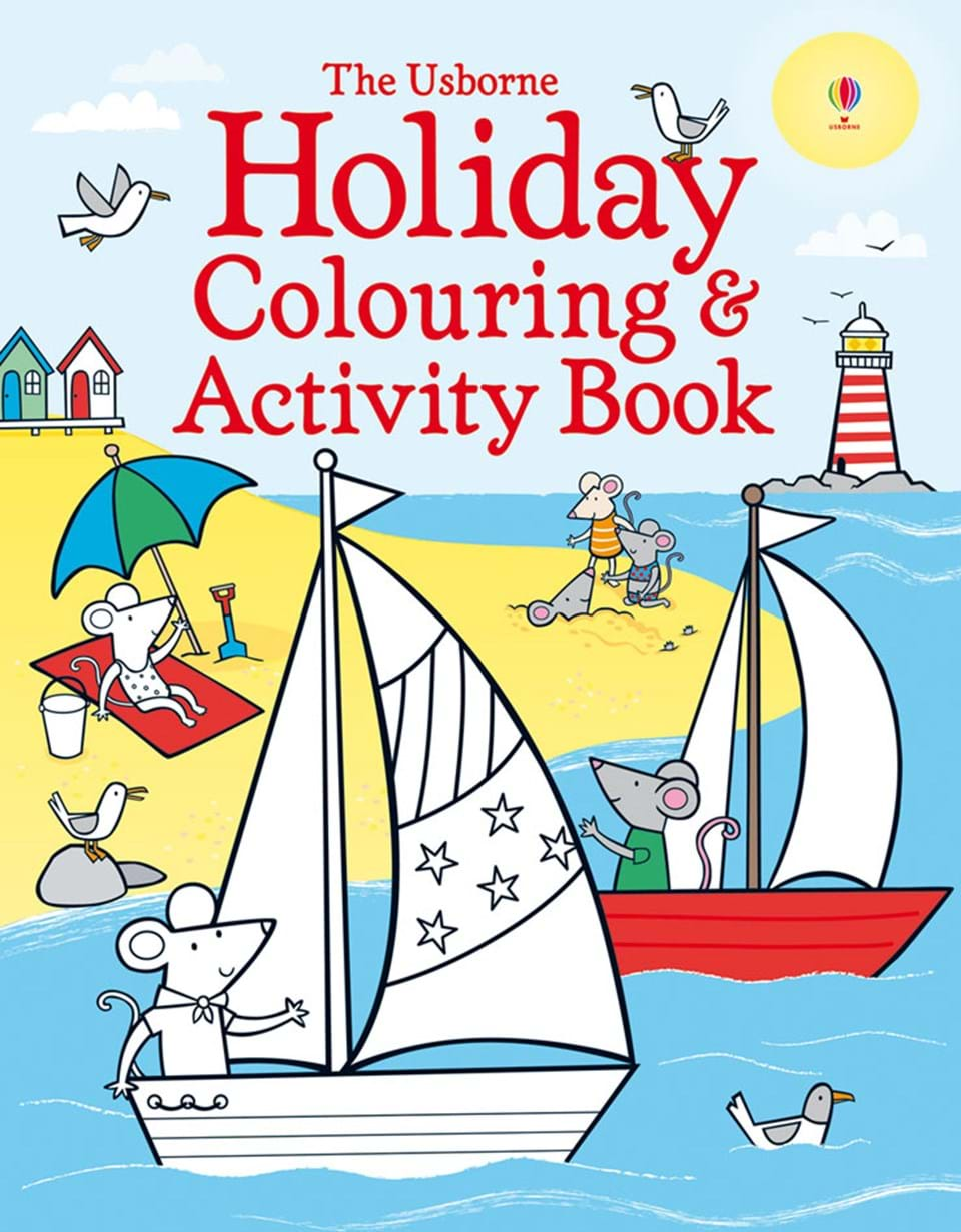"""Holiday colouring and activity book"""" at Usborne Books at Home Organisers"""