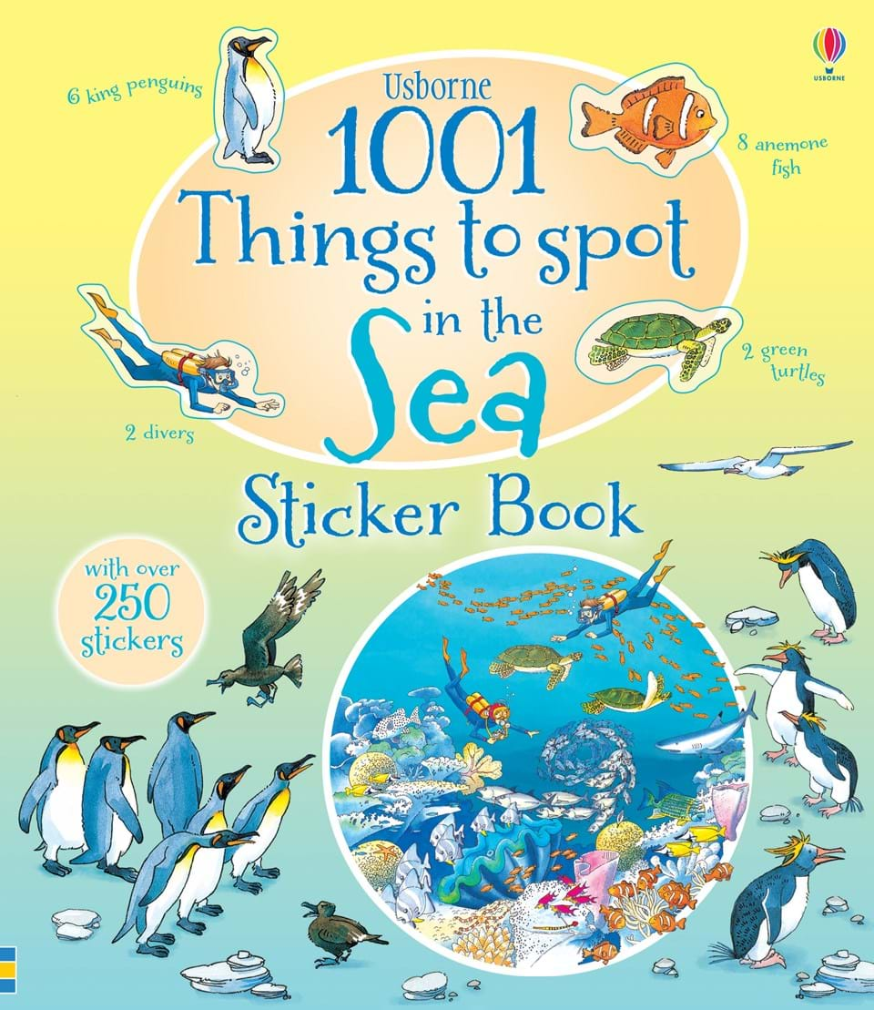 1001 things to spot in the sea sticker book u201d at usborne children u0027s