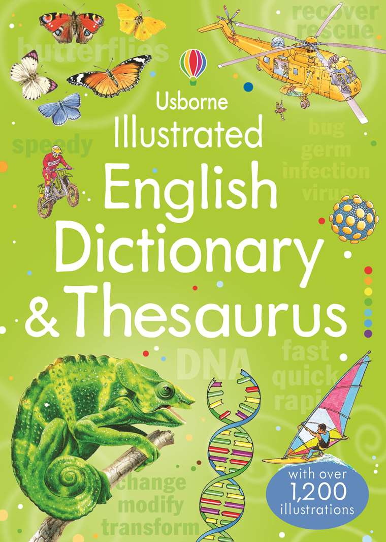 """Illustrated English dictionary and thesaurus"""" at Usborne"""