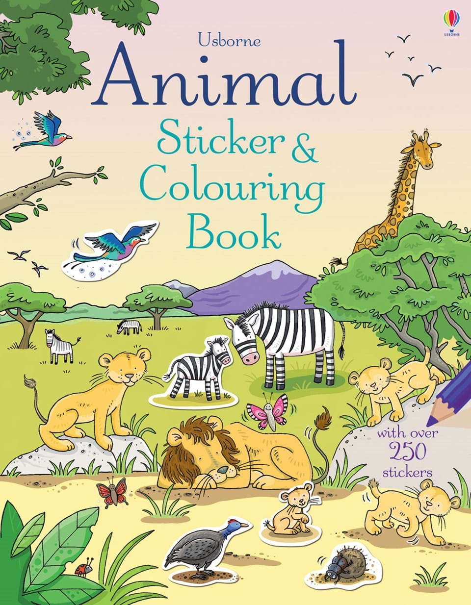 Animal Colouring Book : ?Animal sticker and colouring book? at Usborne Children?s Books