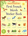 First French words sticker book