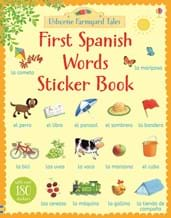 First Spanish words sticker book