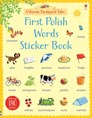 First Polish words sticker book