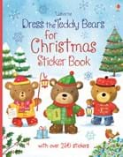 Dress the teddy bears for Christmas sticker book