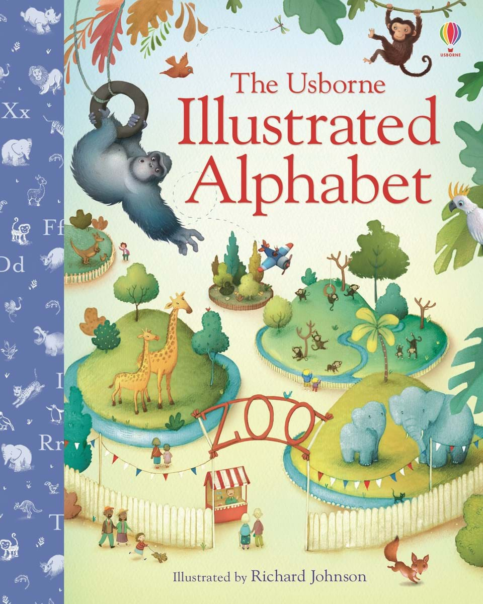 "Illustrated Book Cover Notes : ""illustrated alphabet at usborne children s books"