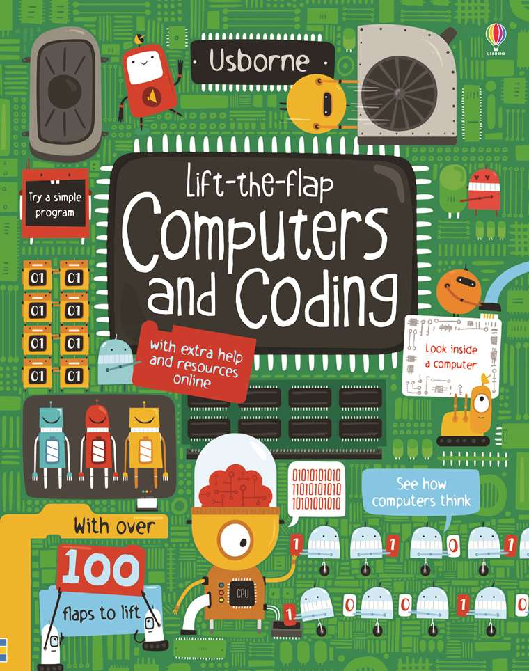 "Lift-the-flap computers and coding"" at Usborne Children's Books"