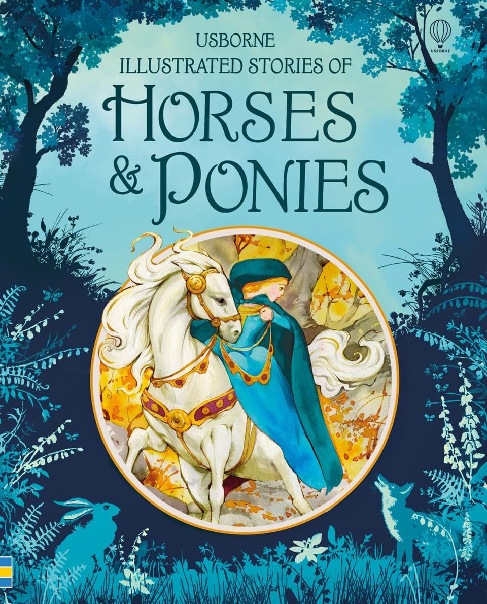 """Illustrated Book Cover Zone : """"illustrated stories of horses and ponies at usborne"""