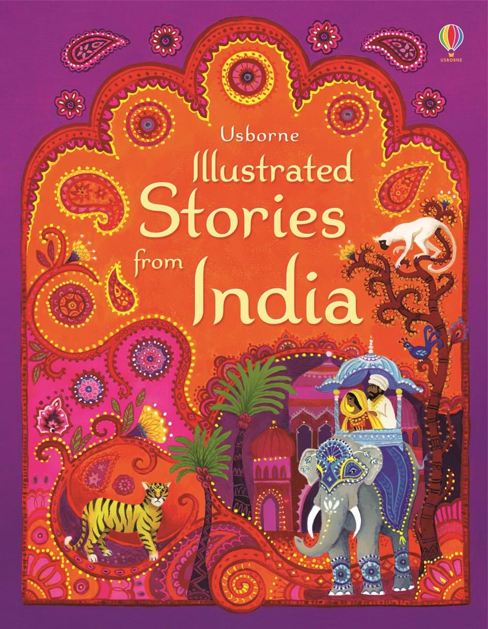 """Illustrated Book Cover Zwart : """"illustrated stories from india at usborne children s books"""