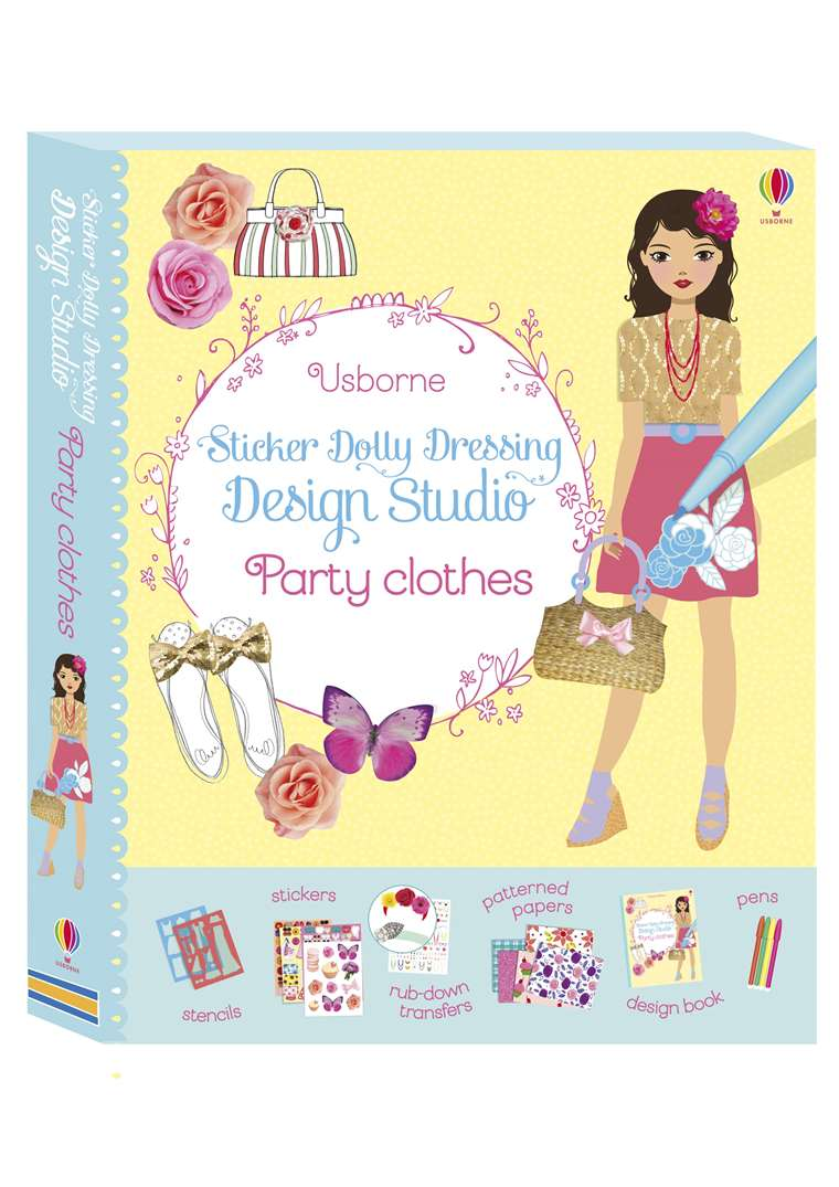 Sticker Dolly Dressing Design Studio Party Clothes At Usborne Children S Books
