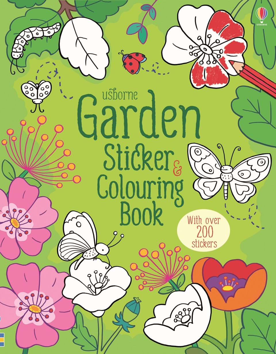 "Garden sticker and colouring book"" at Usborne Children\'s Books"