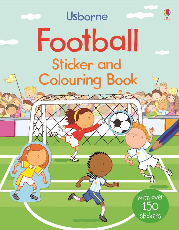"Football sticker and colouring book"" at Usborne Children\'s Books"