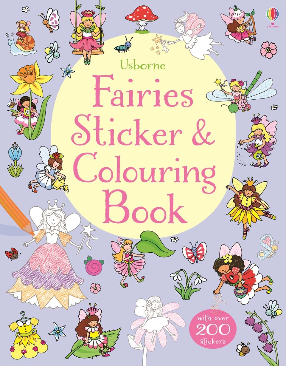 "Fairies sticker and colouring book"" at Usborne Books at Home"