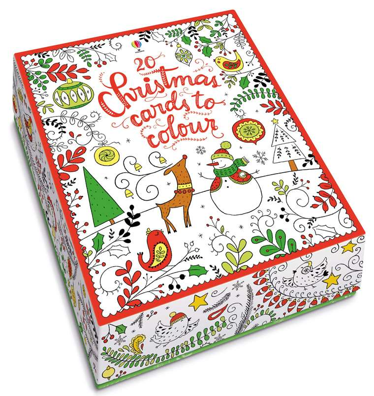 """20 Christmas cards to colour"""" at Usborne Children\'s Books"""