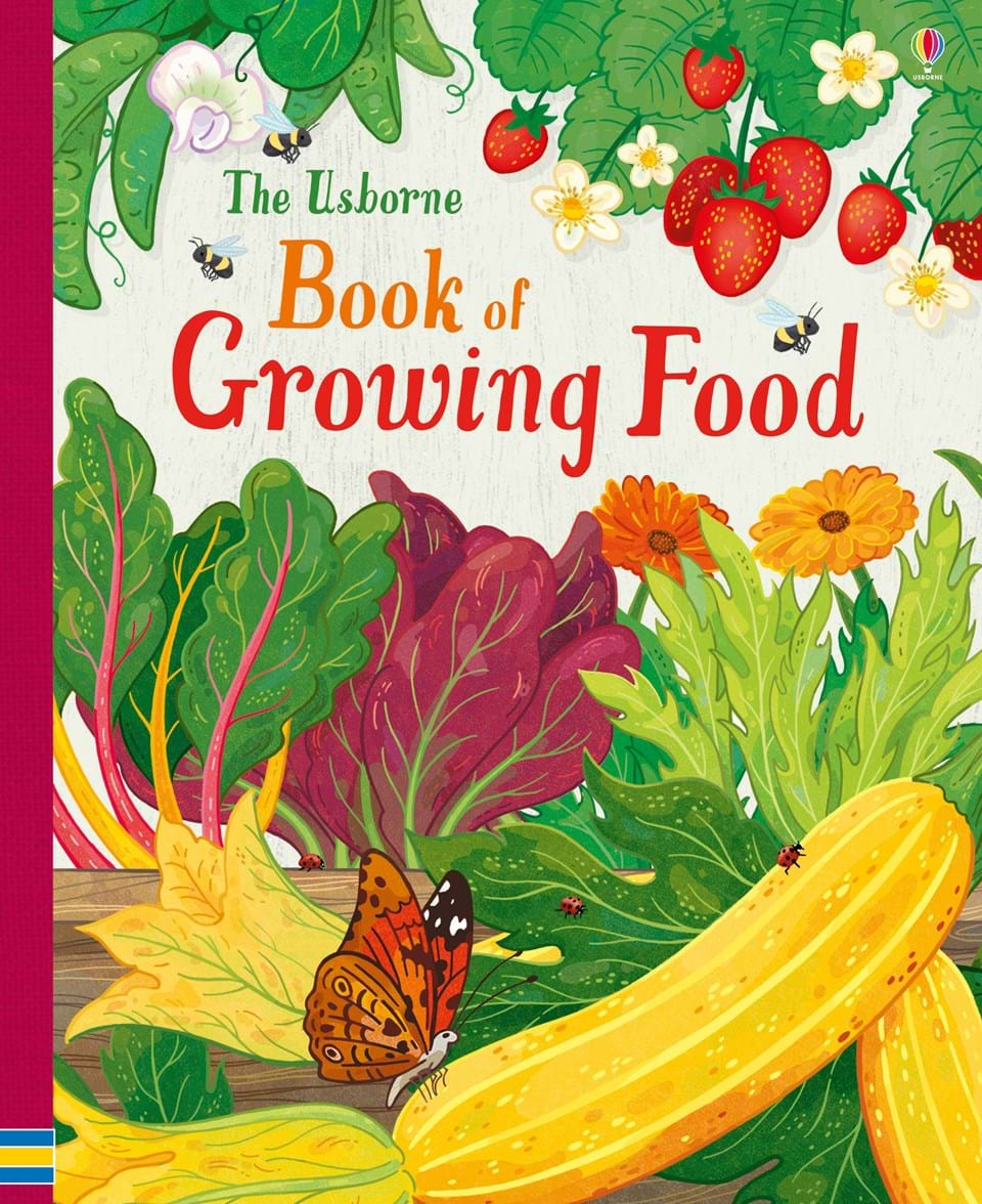 """Food Book Cover Zone : """"the usborne book of growing food at children s books"""