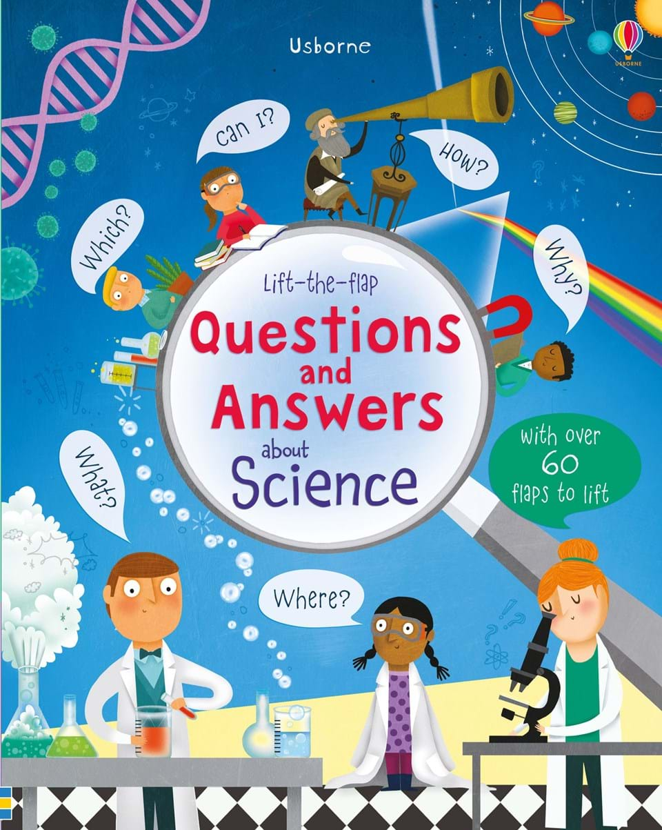 """Cook Book Cover Questions ~ """"lift the flap questions and answers about science at"""