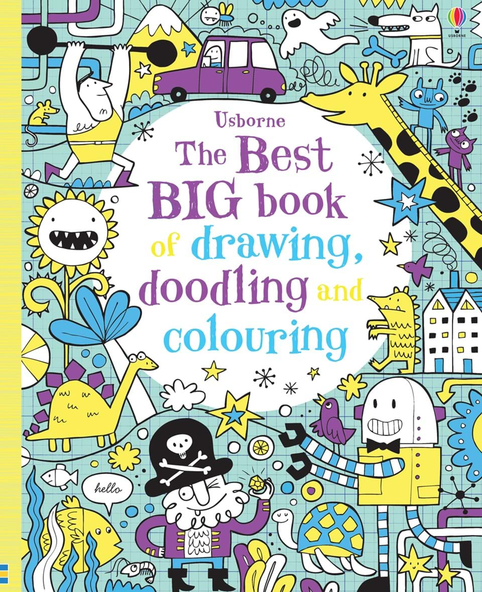the best big book of drawing doodling and colouring u201d at usborne
