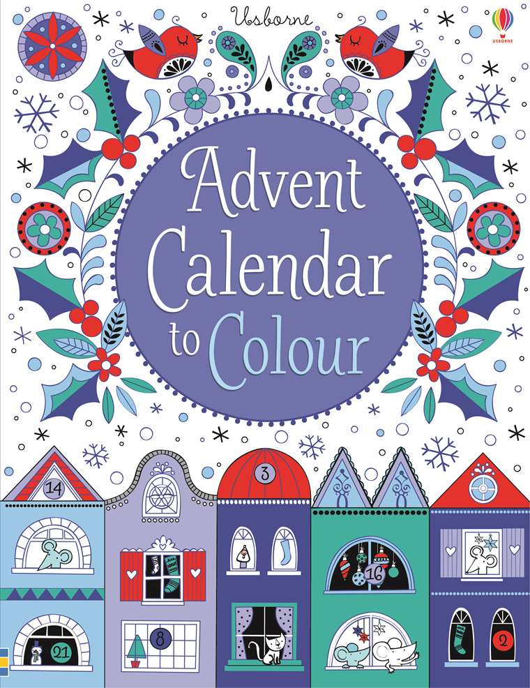 Advent Calendar To Colour At Usborne Children S Books