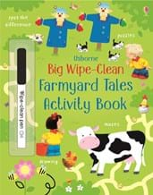 Big wipe-clean farmyard tales activity book