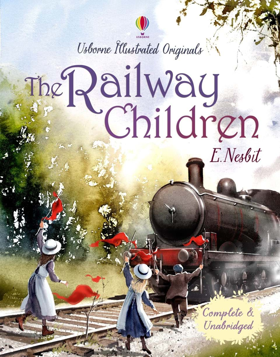"The Railway Children Book Cover : ""the railway children at usborne books home"