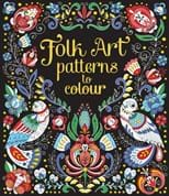 Folk art patterns to colour