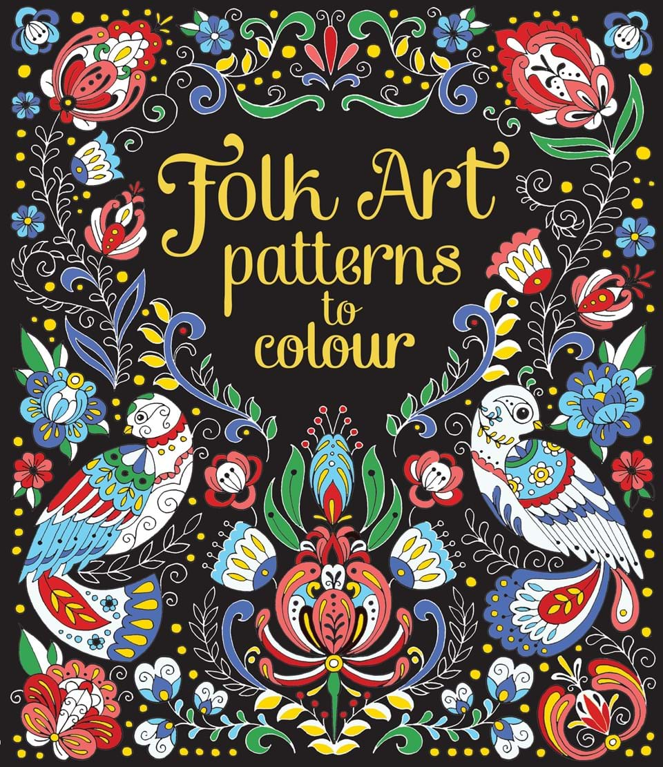 folk art patterns to colour at usborne books at home