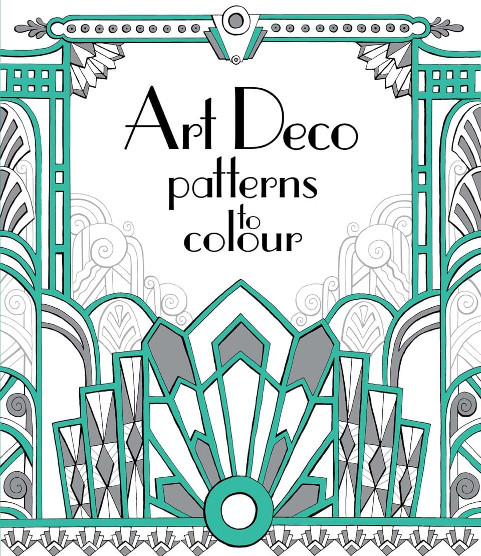Art deco patterns to colour at usborne books at home for Art deco patterns