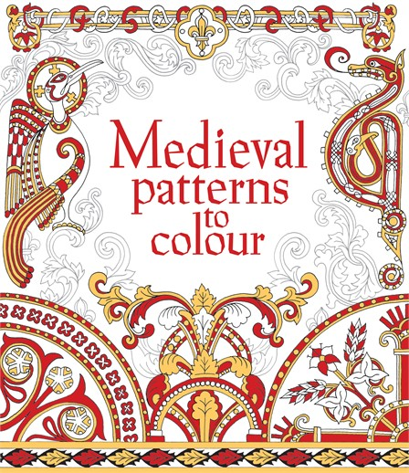 """Book Cover Pattern Uk : """"medieval patterns to colour at usborne books home"""