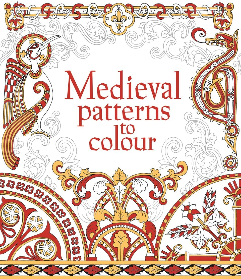 Medieval patterns to colour at