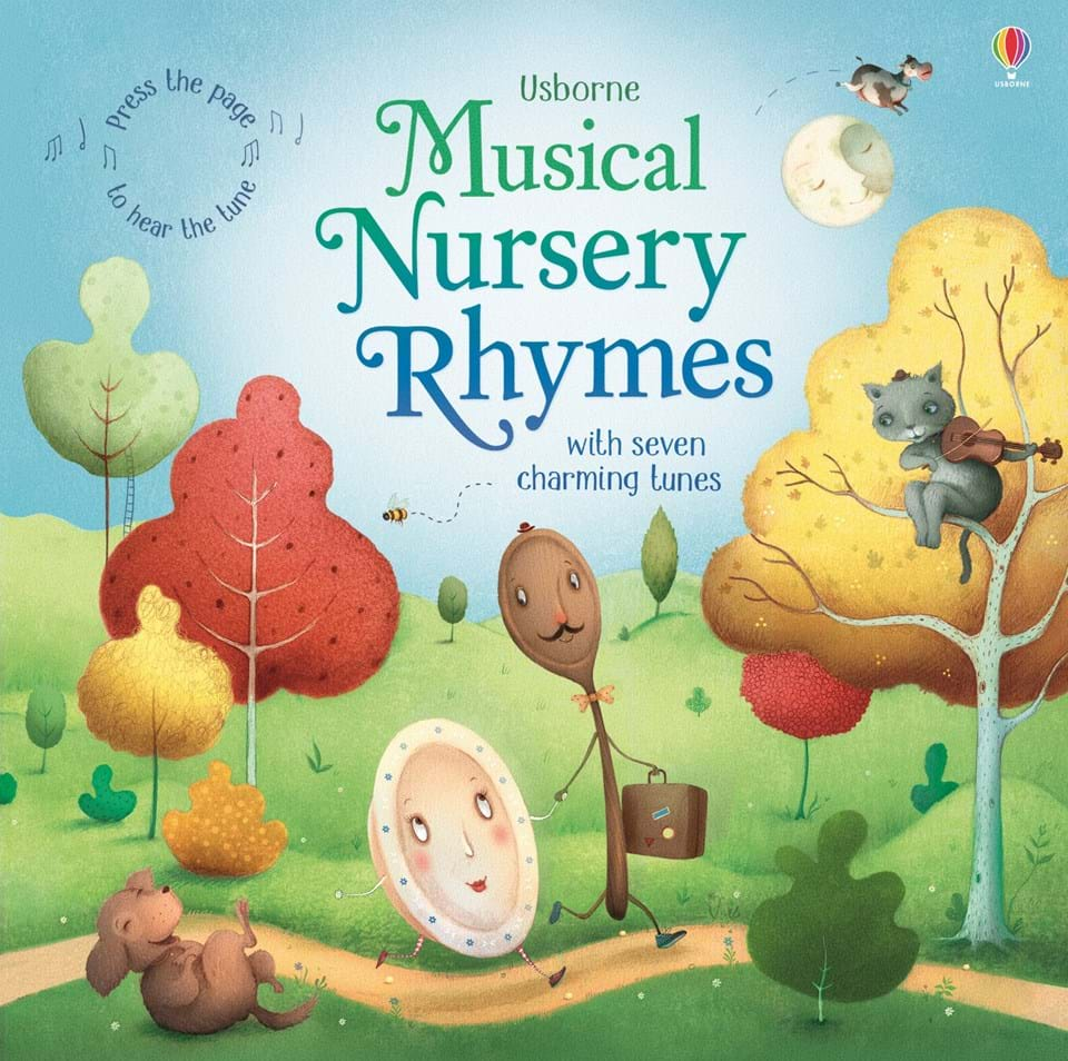 "Book Cover Nursery Art : ""musical nursery rhymes at usborne children s books"