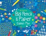 Big pencil and paper games pad