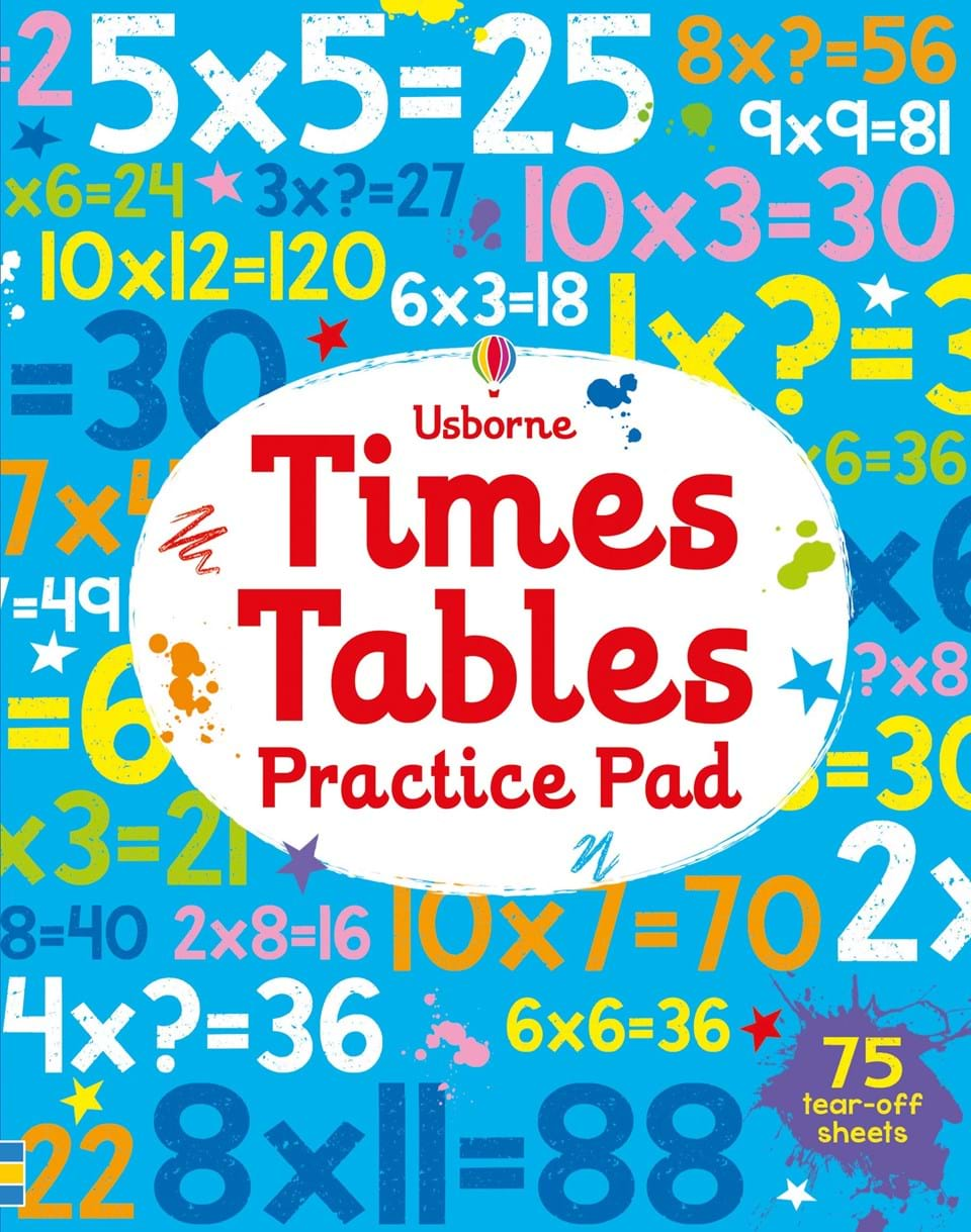 Times tables practice pad at usborne books at home organisers times tables practice pad gamestrikefo Images
