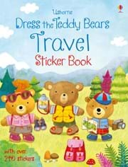 Dress the teddy bears travel sticker book