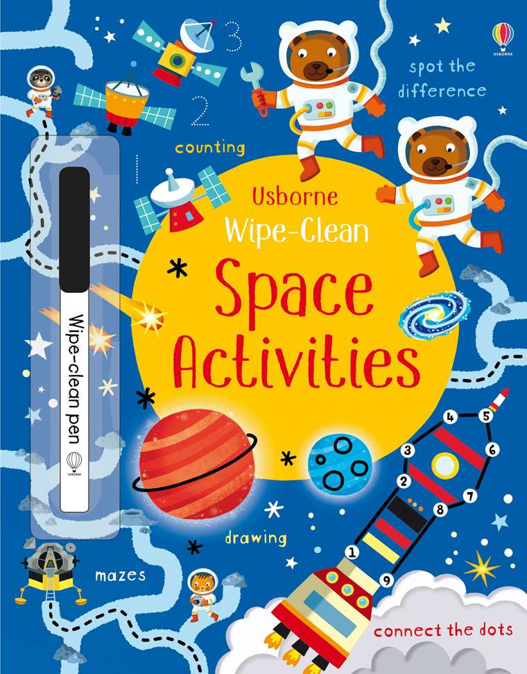 Wipe Clean Space Activities At Usborne Childrens Books