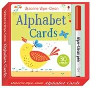 Wipe-clean alphabet cards