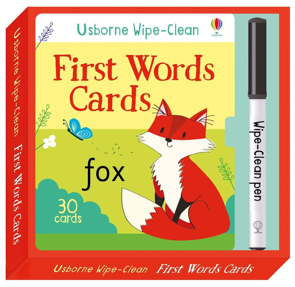"Today S Hint 7 Affordable Activity Ideas For First: €�Wipe-clean First Words Cards"" At Usborne Children's Books"